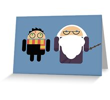 Harry Pottroid and Dumbledroid Greeting Card
