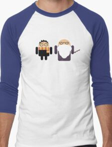 Harry Pottroid and Dumbledroid Men's Baseball ¾ T-Shirt