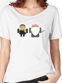 Harry Pottroid and Dumbledroid Women's Relaxed Fit T-Shirt