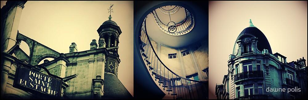 { a  parisian triptych } by dawne polis