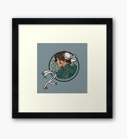 Chun-Li Nouveau Framed Print