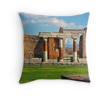 Pompeii Forum III Throw Pillow