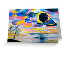 Tropical eclipse of the sun...... Greeting Card