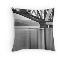 South Queensferry - Iron on Brushed Steel Throw Pillow
