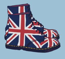 Union Jack Doc Boots by Auslandesign
