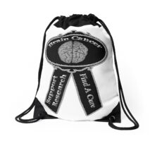 Brain Cancer Awareness Drawstring Bag