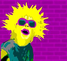Bright Yellow Punk Girl by Auslandesign