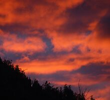 Fiery Sky Over the Flinders by Dan Bronish