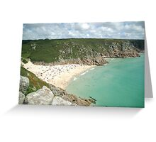 Landscape view from the Minack Theatre, Cornwall Greeting Card