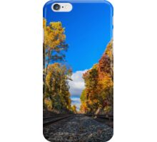 Railroad Tracks in the Fall Photo iPhone Case/Skin