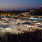 The nightlife on the Djeema el Fna square, Marrakesh by filipmije