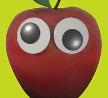 Googly-Eyed Apple by browntimmy