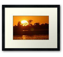 Dusk in the delta Framed Print