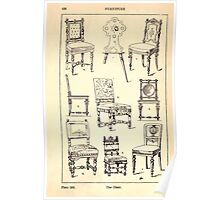 A Handbook Of Ornament With Three Hundred Plates Franz Sales Meyer 1896 0442 Furniture Chair Poster