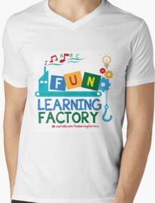 Fun Learning Factory Official Logo Mens V-Neck T-Shirt