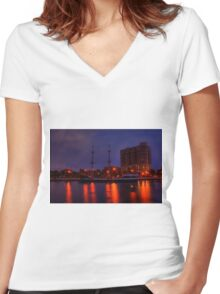 Gasparilla Boat Women's Fitted V-Neck T-Shirt