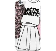Arctic Monkeys girl outline TUMBLR iPhone Case/Skin