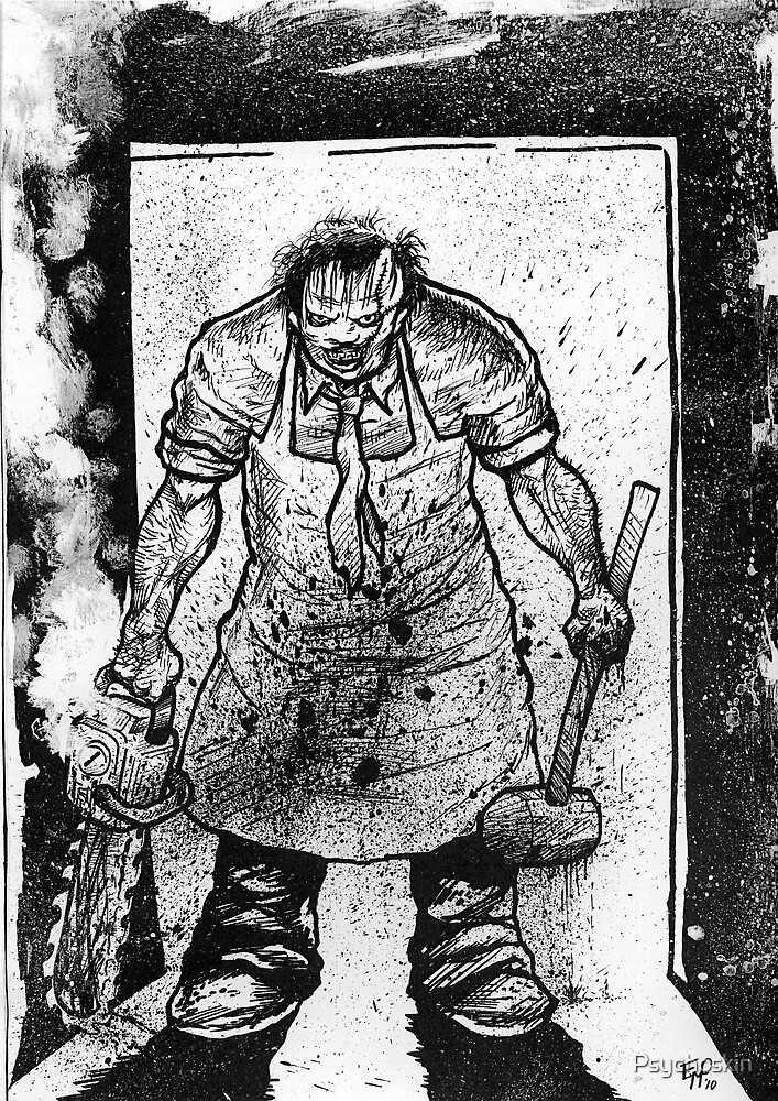 Leatherface Splatter by Psychoskin