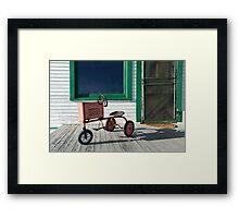 Vintage Toy Tractor Framed Print