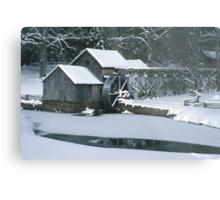 Mabry Mill - Winter Metal Print