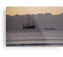 Helicopter Landing Metal Print
