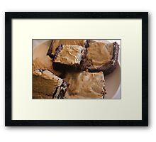 Pumpkin Spice Latte Mix Brownies Framed Print