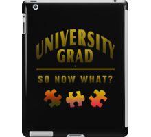 University Grad Now What iPad Case/Skin