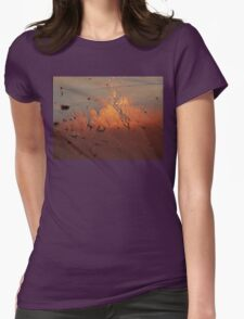 Sunset Sand Womens Fitted T-Shirt