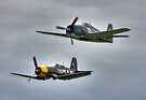 Corsair and Hellcat by Nigel Bangert