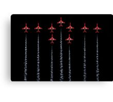 Red Arrows - RAF Canvas Print