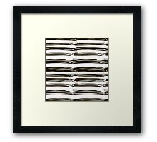black brush strokes Framed Print