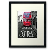 Big Red Bus Framed Print