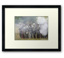 After the smoke clears..... Framed Print