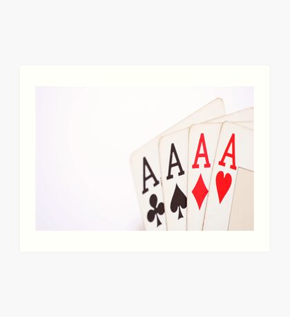 Aces Poker Art Print