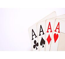 Aces Poker Photographic Print