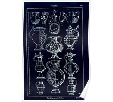 A Handbook Of Ornament With Three Hundred Plates Franz Sales Meyer 1896 0349 Vases Lip Spout Pitcher Inverted Poster