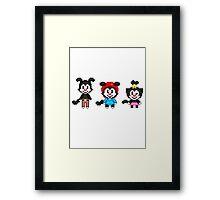 Animaniacs - Yakko, Wakko, & Dot Warner Chibi Pixels Framed Print