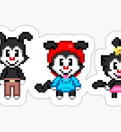 Animaniacs - Yakko, Wakko, & Dot Warner Chibi Pixels Sticker