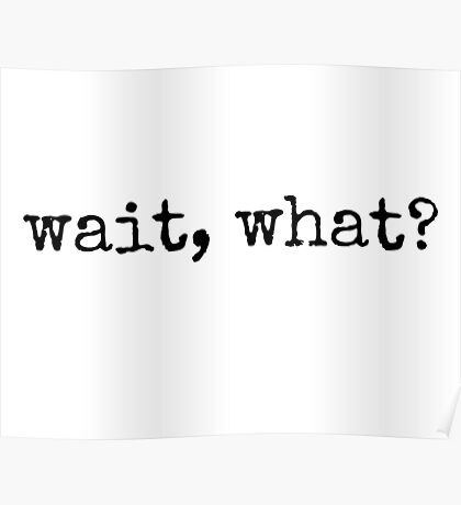 Wait, what? Poster