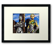 When Fembots Rule Society Framed Print