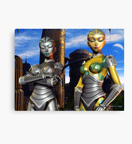 When Fembots Rule Society Canvas Print