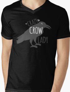 CRAZY Crow Lady Mens V-Neck T-Shirt