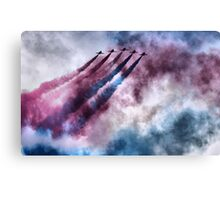 painting the sky RAF style Canvas Print