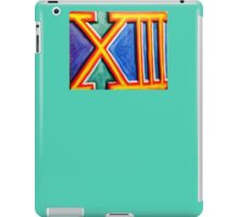The lucky number thirteen  iPad Case/Skin