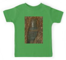 0406 Ned Kelly Armour buried in old tree trunk Kids Tee