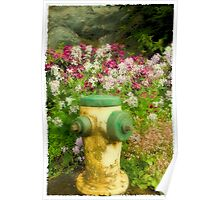 Flower Hydrant Poster