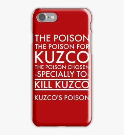 The Poison. in white iPhone Case/Skin