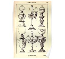 A Handbook Of Ornament With Three Hundred Plates Franz Sales Meyer 1896 0393 Metal Objects Modern Lamp Poster