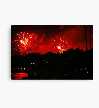 Fireworks over Birkenhead Point Canvas Print