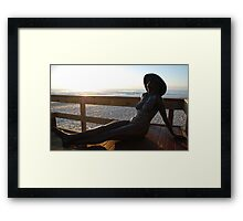 Getting a Coppertone Framed Print